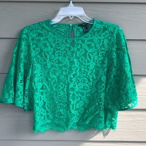 BOGO Forever 21 cropped lace top